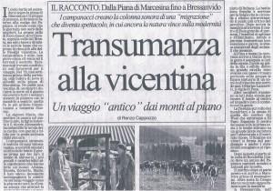 GIORNALE DI VICENZA 26 SETTEMBRE 2004